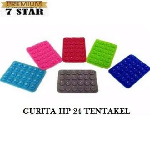 Tempelan Belakang HP Stand Holder Gurita Universal 24 Tentakel Perekat Handphone 1Pcs - Multi Color