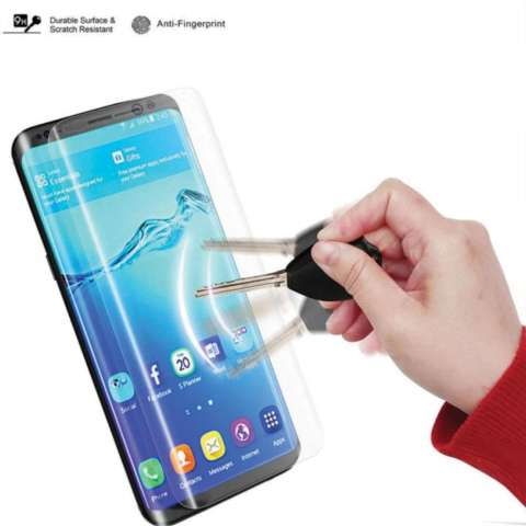 Temper Glass Samsung Galaxy S8 Ukuran 5.8 Inch Temepred Glass 3D Curved Full Melengkung Anti Gores