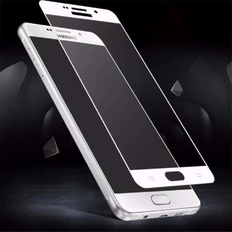 Tempered Glass For Samsung Galaxy A7 2017 A720 9H Full Screen White Screen Anti Gores Kaca
