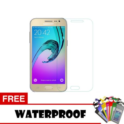 Tempered Glass For Samsung Galaxy J2 Prime Ultra Screen Protector + Free Waterproof