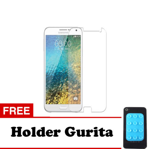 Beli Tempered Glass Samsung Galaxy E5 Screen Protector Putih Transparant Free Holder Gurita Harga Rp 15.000