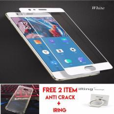 Tempered Glass Samsung Galaxy J7 Prime Full Kaca Free Anti Crack Case + Iring Handphone