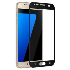 Tempered Glass Samsung S7 Flat 3D Warna Full Cover - Hitam