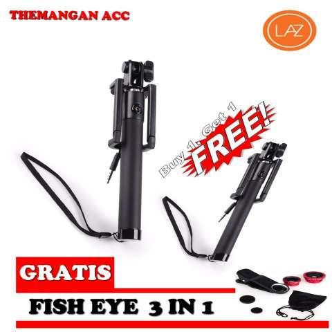 Jual Tongsis Buy 1 Get 1 Kabel U Black Edition Limited Monopod Tongkat Narsis Free Fisheye