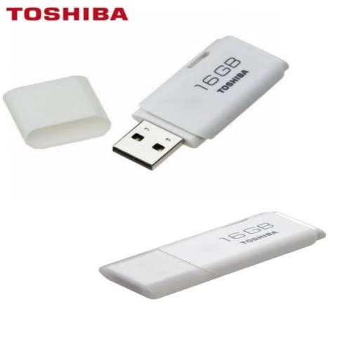 Toshiba Flashdisk Hayabusa 16GB - Putih + FREE PowerBank Slim