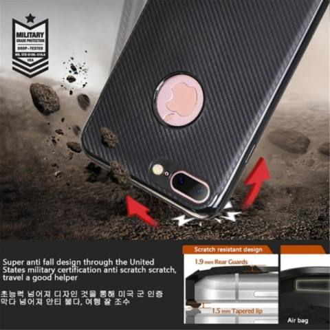 TPU Carbon Case Black Only for Samsung S7 Edge Softcase TPU - Hitam 3