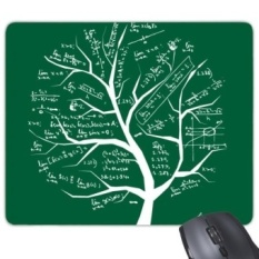 Tree-Shaped Seeking Limits Mathematical Formulas Science Calculus Painted Stick Figure Rectangle Non-Slip Rubber Mousepad Game Mouse Pad Gift