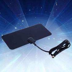 TV Antenna Indoor HDTV DTV Box Flat Design 5dB Gain supports UHF/VHF signals - intl