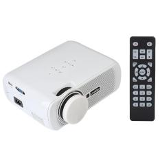 U80 Full HD 1000LM Mini Home Office Multimedia LED Video Projector VGA USB AV SD EU Plug