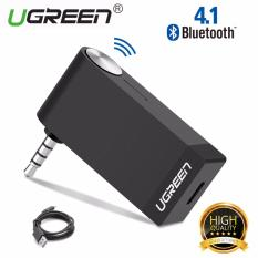 UGREEN Bluetooth Receiver 3.5mm Aux Bluetooth 4.1 Receiver Audio Music Car Receiver Bluetooth Car Speaker, with Microphone For PC Speakers, Car&Home Stereo Sound System And A/V receivers