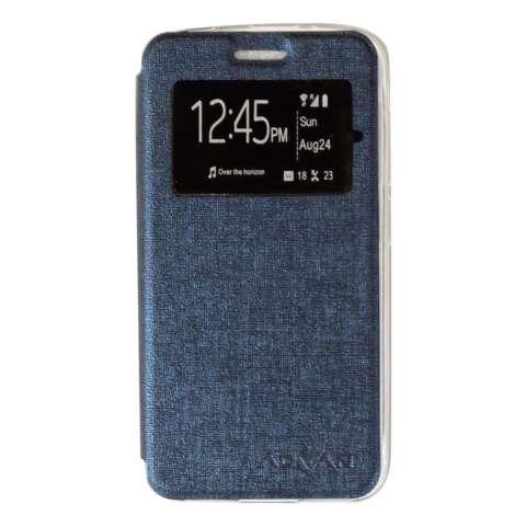 Ume Flip Cover Advan Vandroid i5e Flip Leather Cover Kulit Sintetis With Silicone Interior/ Flip