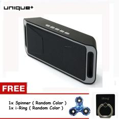 Unique Bluetooth Speaker Wireless Portable Stereo Support Micro SD USB FM Radio S208 FREE SPINNER PATTERN + i-RING RANDOM COLOR