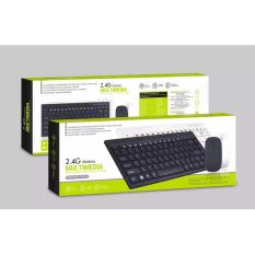 Unique Keyboard Mouse Wireless Slim For Android IOS PC Apple Laptop Hitam