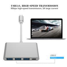 Unique UBS 3.1 Tipe C ke USB 3.0 USB-C Tipe C Konverter HUB Kabel Adaptor OTG Hi Speed untuk Laptop PC MacBook Xiaomi 5s