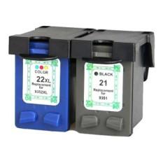 Universal Replacement Printer Ink Cartridge HP H-21XL Black Face - Hitam