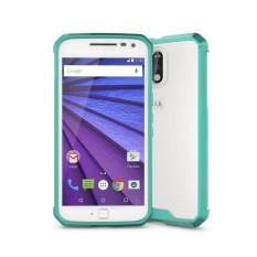 untuk Motorola Moto G (4th Jenderal) /G4 PLUS Transparan Shockproof TPU Pelindung Kembali Tudung Case (Hijau)-Intl