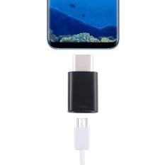 USB-C Wanita untuk USB-C Pria Konektor Adaptor untuk Galaxy, Huawei, Xiaomi, LG, HTC dan Ponsel Cerdas Lainnya, Perangkat Isi Ulang (Hitam)-Intl