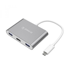 USB C untuk HDMI Adapter-Orico Type-c Ultiport Konverter Hub dengan HDMI 4 K, Usb-c Power Delivery & 3 USB 3.0 Port untuk Baru Apple MacBook Pro, Dell, Chromebook Pixel, HDTV, Proyektor, Samsung-Intl
