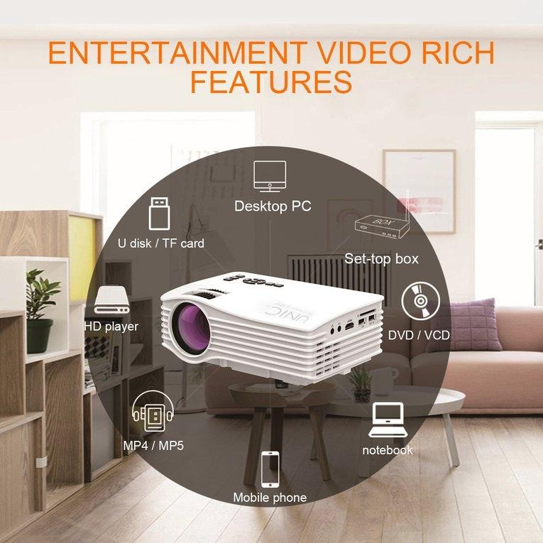 USTORE Portable UC36 1080P HD Home Theater 3D Cinema HDMI USB Digital LED Projector US plug - intl