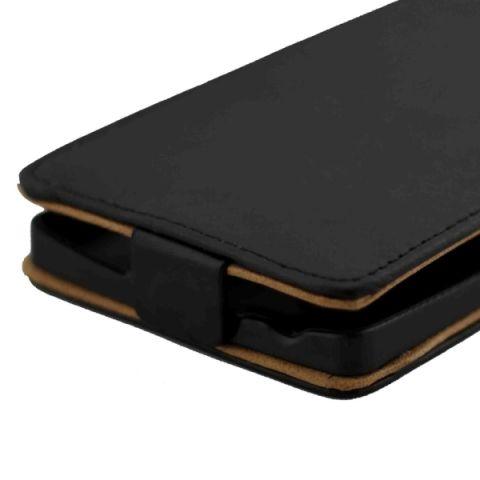 Vertikal Flip Magnetic Button Leather Case untuk LG Magna/H500F, G4C/H525 (