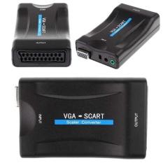 VGA KE SCART NOTEBOOK TV DECODER DVD Eksternal Monitor Adaptor Adaptor Kabel-Intl