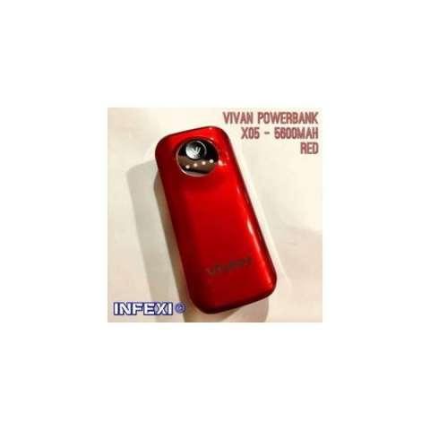 Jual Vivan Powerbank X05 5600mah Red Harga Rp 255000