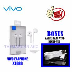 Vivo Earphone / Handsfree XE680 Original For V5 / V5 Plus / V5S + GRATIS Kabel Data Vivo Micro USB Original
