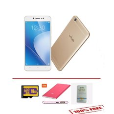 Vivo V5 LITE 16MP Camera Selfie - 32GB - Gold - Free Memory 16GB + Power Bank & Tempered Glass
