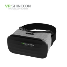 VRshinecon Y-005 Smartphone Leather 3D Glasses (Black) - intl