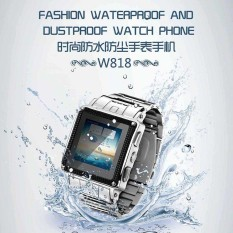W818 IP67 Waterproof Android Smart Watch Phone with SIM Card Camera Touch Screen Bluetooth Unlock GSM Telephone Can Swim with It - intl