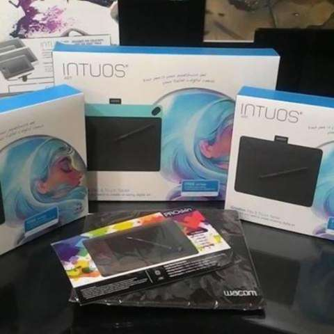 Wacom Intuos Art Small CTH-490 Pen & Touch Mint Blue FREE Softcase & PROskin