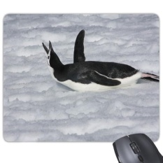 Water Black Antarctic Penguin Picture Rectangle Non-Slip Rubber Mousepad Game Mouse Pad Gift