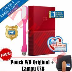 WD My Passport New Design 1TB Portable Storage USB 3.0 - Merah Harddisk Eksternal 2.5