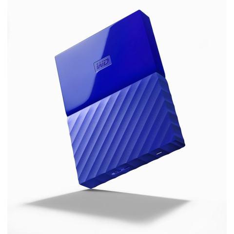 """WD My Passport New Design HDD Eksternal 2.5"""" 1TB/USB3.0 - Biru"""