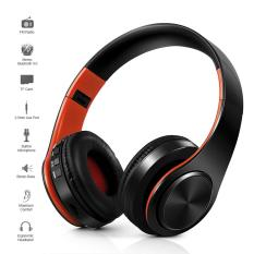 Wireless Bluetooth Headphones Stereo Bluetooth 4.0 Headsets MP3 Player TF Card FM Radio 3.5mm Wired Earphone Hands-free w/ Mic for iPhone 6S 6S Plus Samsung S6 S5 Note 6 5 Laptop Notebook - intl