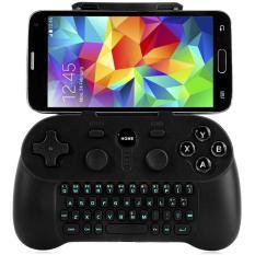 Wireless Bluetooth 3.0 Gamepad dengan Keyboard untuk Samsung Smart TV (Hitam)-Intl