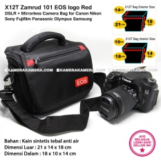 X12T Zamrud 101 EOS logo Red for DSLR + Mirrorless Camera Bag for Canon Nikon Sony Fujifilm Panasonic Olympus Samsung