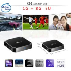 X96 Mini Android 7.1 TV Box 2 GB 16 GB Amlogic S905w Dukungan Quad Core H.265 UHD 4 K 2.4 GHz Wifi X96 Mini Set-top Box Spesifikasi: 1 + 8 Jenis Plug: Peraturan Eropa
