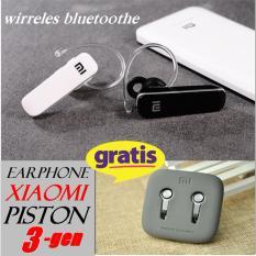 [Black] Xiaomi 2S34 Headset Bluetooth 4.1 Handsfree Earphone Headphones +piston 3