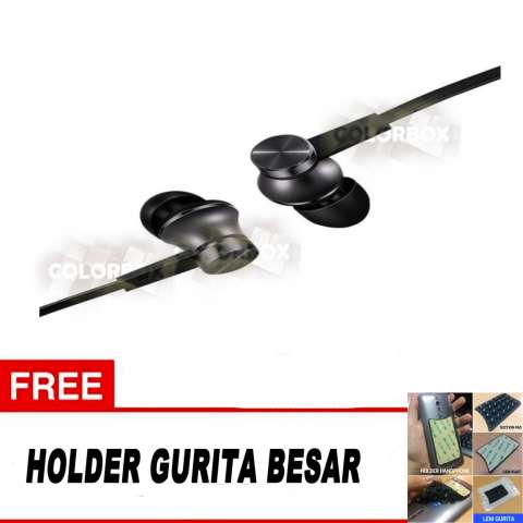 Home; Xiaomi Handsfree Piston Original In Ear 3rd Gen Headset Xiaomi - Hitam + Free