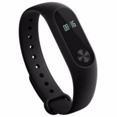 Xiaomi Mi Band 2 Waterproof Smart Bracelet Heart Rate Monitor Detak Jantung Wristband with OLED Display Original 70mAh Gelang Jam Tangan Support Android 4.4 iOS7.0 Touch Screen Li-Polymer Battery Screen Bluetooth 4.0 BLE Tahan Air Benturan - Black