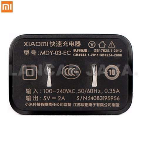 Home; Xiaomi Charger Original MDY-03-EC 2A Fast Charging Travel Charger +