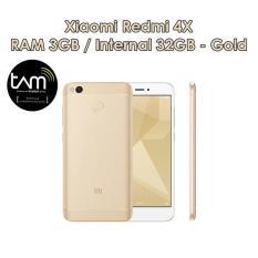Xiaomi Redmi 4x Prime - 3GB - 32GB - Gold - Garansi TAM