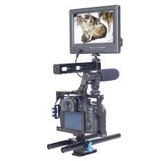 YELANGU YLG0904A Menangani Video Kamera Cage Stabilizer untuk Panasonic Lumix DMC-GH4/Sony A7 dan A7S dan A7R dan A7RII dan A7SII-Intl