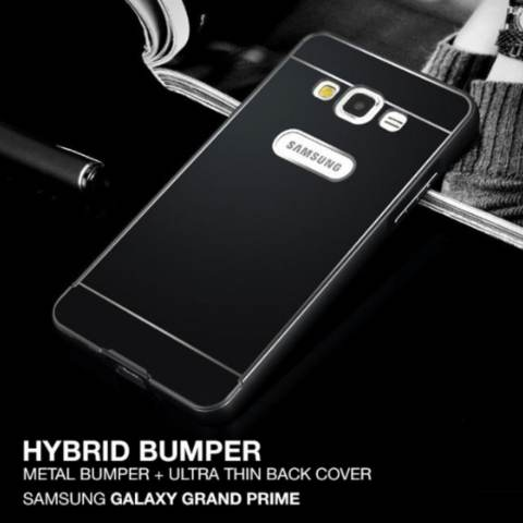 Home Zineq Hybrid Metal Aluminium Bumper & Thin Back Case For Samsung Galaxy .