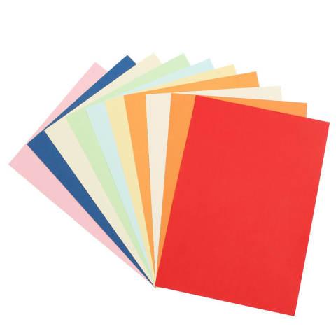 100 Lembar 10 Berbagai Macam Warna A4 Kertas Berwarna Kerajinan Printercopier Pembuatan Kartu (Intl)-Intl 2