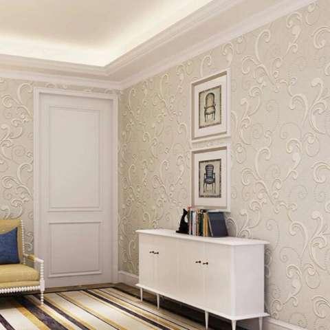 10 M Eropa Wallpaper Bunga 3D Relief Luxury Desain Dinding Kertas Dinding Seni Ruang Tamu Kamar Tidur TV Sofa Latar Belakang Non -woven Wallpaper-Internasional 1