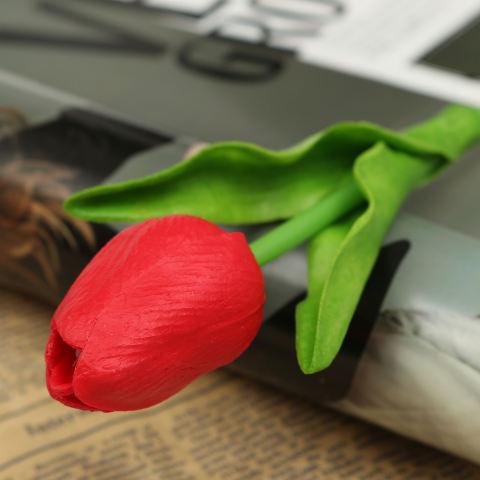 10 Buah Bunga Tulip Buatan Getah Asli Karangan Bunga Pernikahan Pengantin  Dekorasi Sentuhan Rumah Merah 5b452cd81b