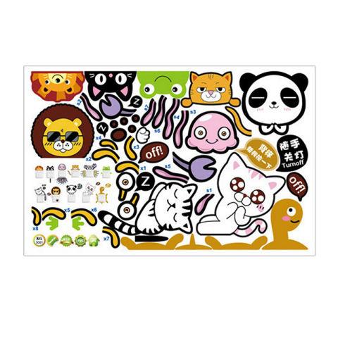 11 Buah/set Saklar Stiker Dinding Kartun Hewan Lucu Yang Dapat Membuat Orang Yang Melihatnya Tertawa Terbahak-bahak atau Justru Kesal Karena Merasa Dekorasi Kamar Stiker-Internasional 1