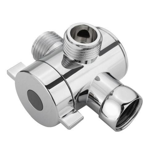 1/2 Inci Tiga Cara T-Adaptor Katup untuk Pancuran Air untuk Toilet Pengubah Kepala Pancuran Valve-Intl 3
